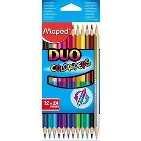 Kredki Colorpeps Duo 12=24 kolory MAPED