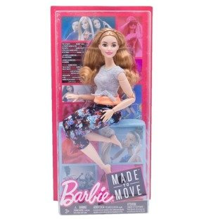 Lalka Barbie Made to Move - ruda