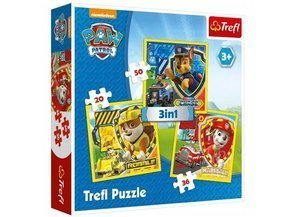 Puzzle 3w1 PSI PATROL Marshall Rubble.Chase TREFL