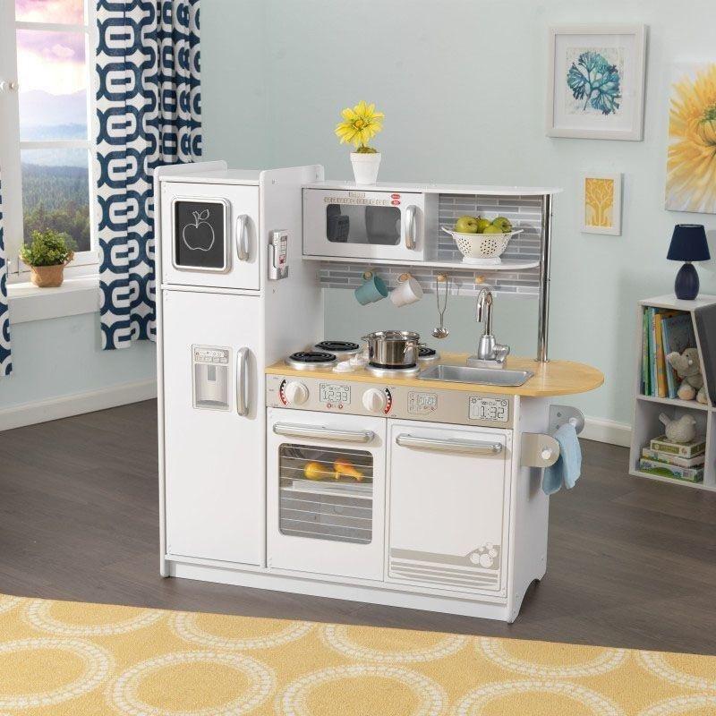 Biała Kuchnia Drewniana Dla Dzieci Kidkraft Uptown Akcesoria