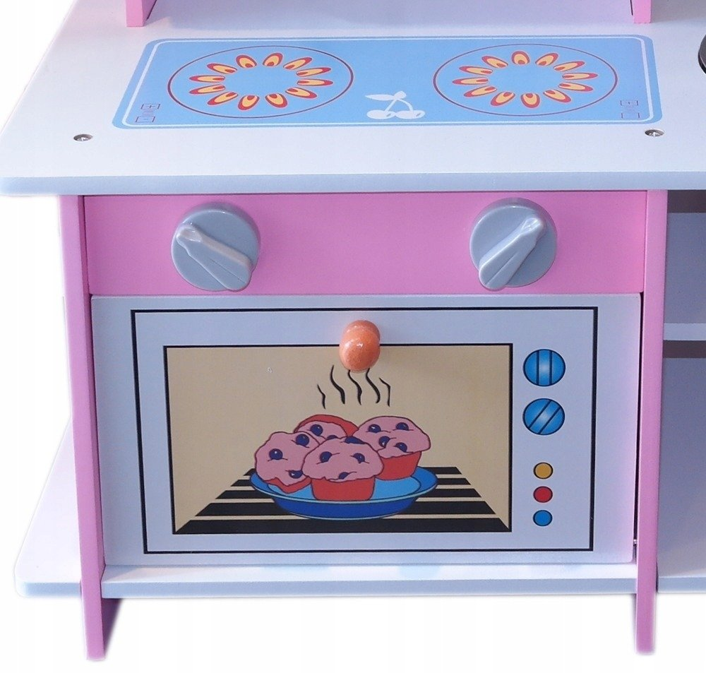 Kuchnia Drewniana Dla Dzieci Różowa