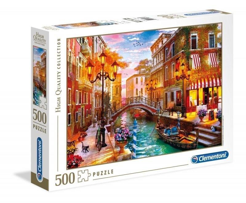 9ed9e34e Puzzle 500 elementów High Quality - Zachód słońca nad Wenecją w ...